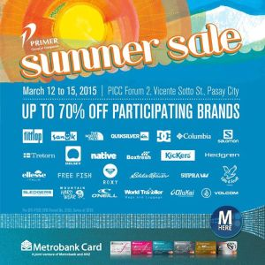 Primer Summer Sale Flyer (taken from Primer Facebook Page)