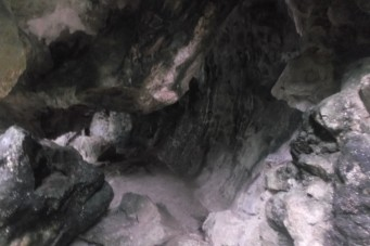 Looking inside the cave