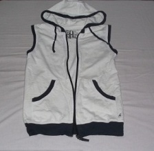 White Hoodie with Black Details, Folded & Hung