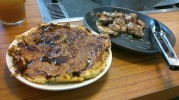 After cooking: Four Cheese Okonomiyaki (Php 290.00) and Chicken Shio (Php 150.00)