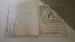 """A copy of """"Doctrina Christiana"""", an ancient Filipino book written in Spanish"""
