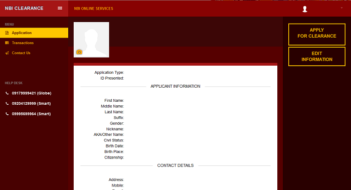NBI Online Registration